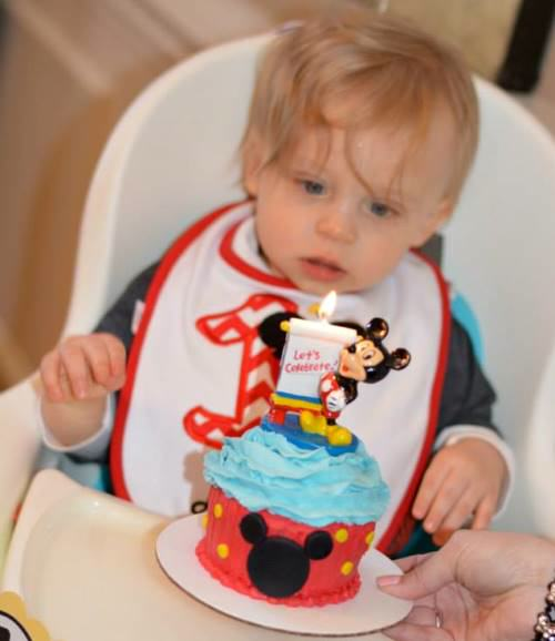 1st birthdaycake1 Mickey Mouse Themed 1st Birthday Party