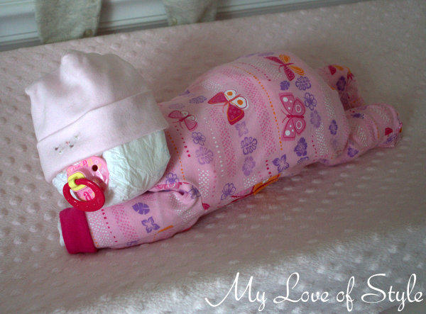How To Make A Sleeping Baby Nappy Cake