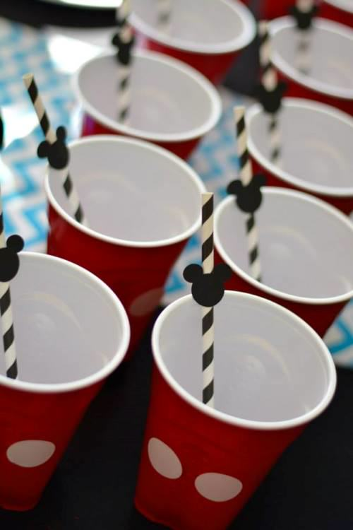 Mickey Mouse Cups1 Mickey Mouse Themed 1st Birthday Party