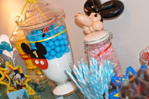 candy buffet11 Mickey Mouse Themed 1st Birthday Party