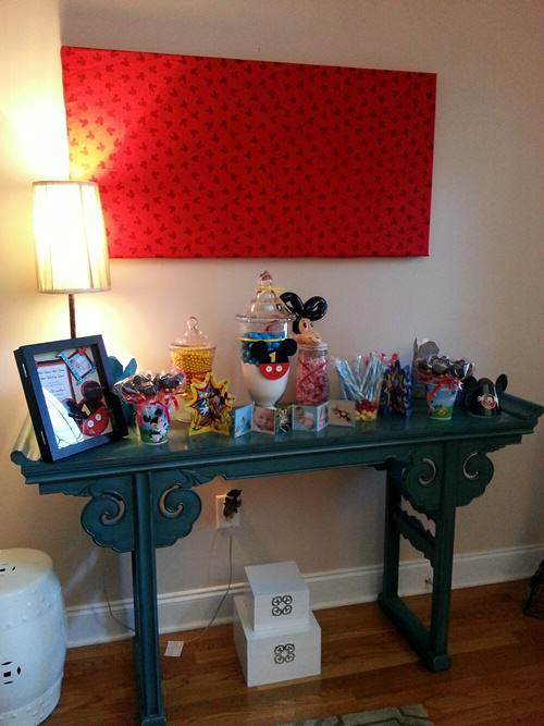 mickey mouse candy buffet
