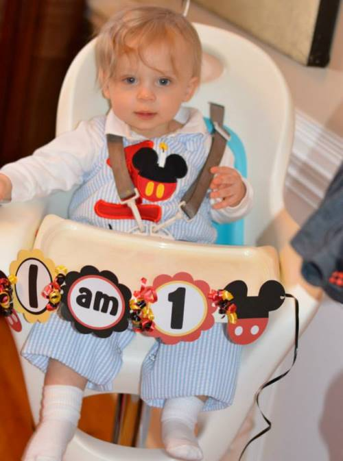 luke Mickey Mouse Themed 1st Birthday Party