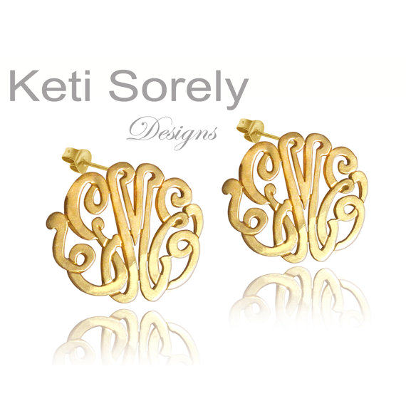 Monogram Cutout Earrings