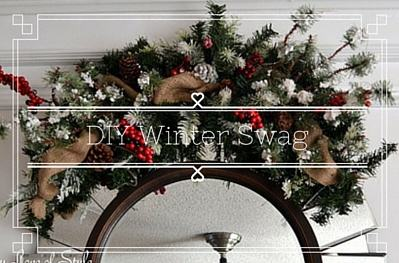 DIY Christmas Winter Swag