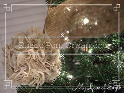 DIY Rustic Pom Ornament Tutorial